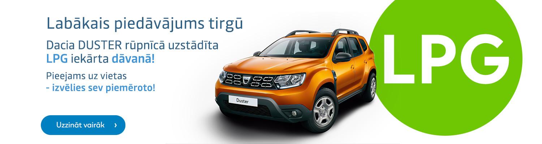 Dacia DUSTER LPG iekārta dāvanā